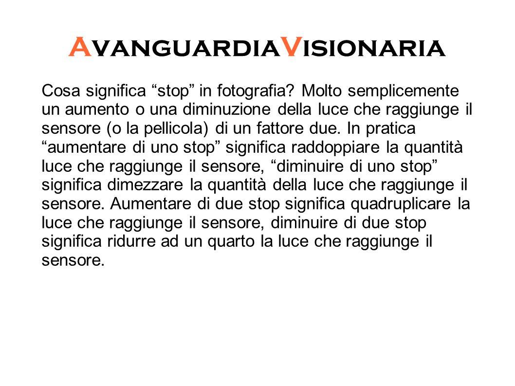 """AvanguardiaVisionaria Cosa significa """"stop"""" in fotografia? Molto semplicemente un aumento o una diminuzione della luce che raggiunge il sensore (o la"""
