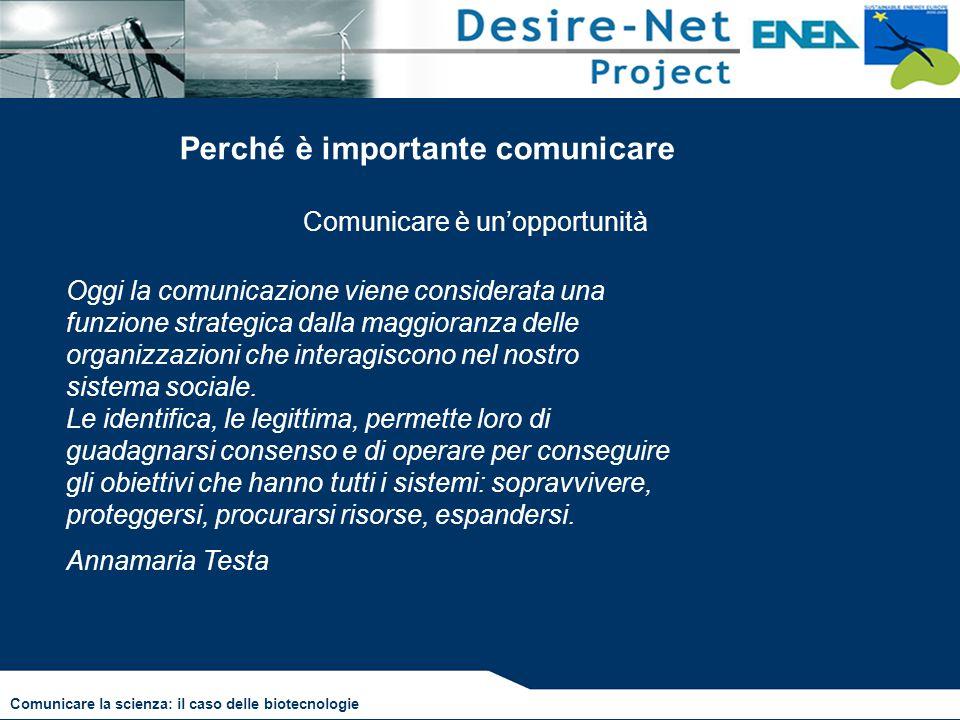 Comunicare è un'opportunità Oggi la comunicazione viene considerata una funzione strategica dalla maggioranza delle organizzazioni che interagiscono n