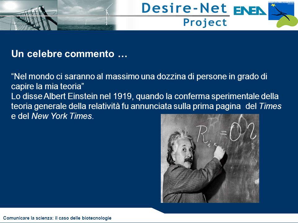 """Un celebre commento … """"Nel mondo ci saranno al massimo una dozzina di persone in grado di capire la mia teoria"""" Lo disse Albert Einstein nel 1919, qua"""