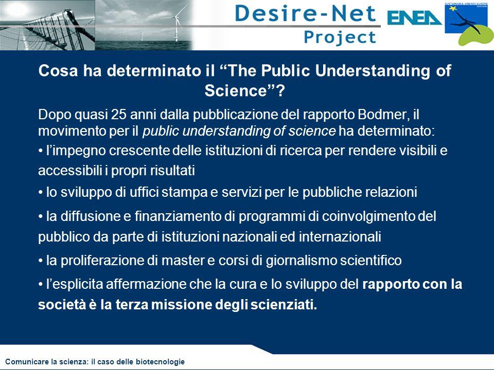 """Cosa ha determinato il """"The Public Understanding of Science""""? Dopo quasi 25 anni dalla pubblicazione del rapporto Bodmer, il movimento per il public u"""