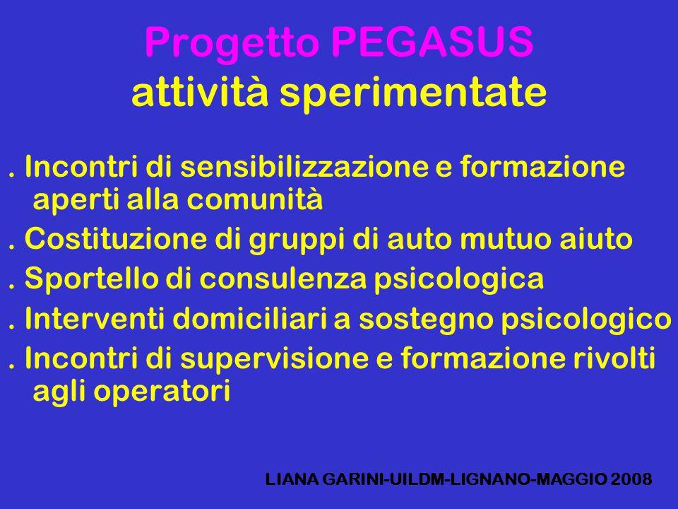 Progetto PEGASUS attività sperimentate.