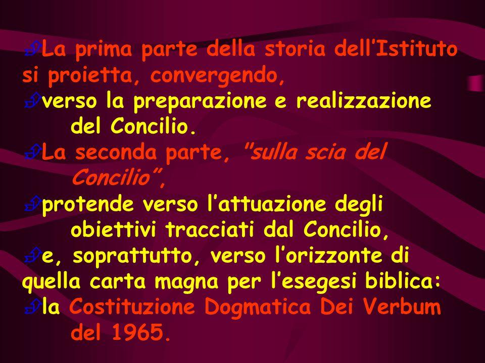 Il Concilio Vaticano II, celebrato nel cuore del XX Secolo, determina come spartiacque la storia dell'Istituto in questi primi 100 anni.