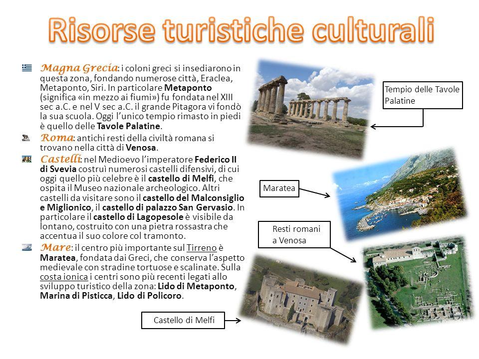 Magna Grecia : i coloni greci si insediarono in questa zona, fondando numerose città, Eraclea, Metaponto, Siri. In particolare Metaponto (significa «i