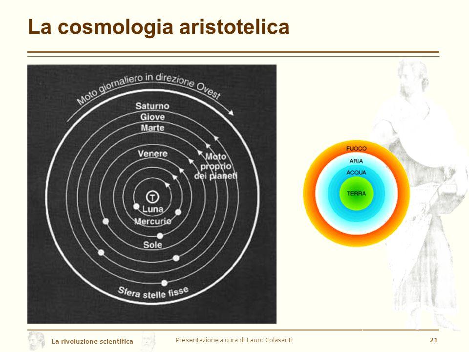 La rivoluzione scientifica La cosmologia aristotelica Presentazione a cura di Lauro Colasanti21