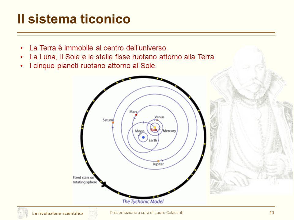 La rivoluzione scientifica Il sistema ticonico Presentazione a cura di Lauro Colasanti41 La Terra è immobile al centro dell'universo.