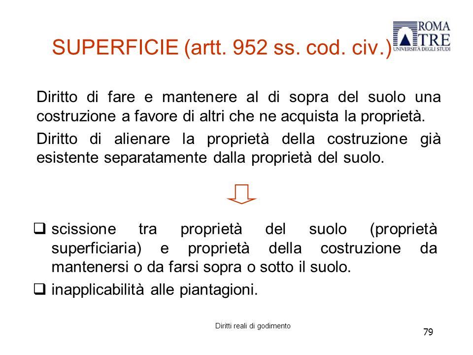 79 SUPERFICIE (artt.952 ss. cod.