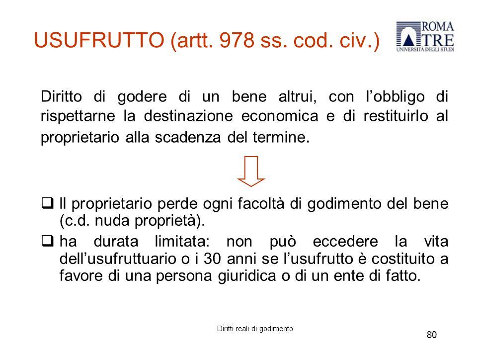80 USUFRUTTO (artt.978 ss. cod.