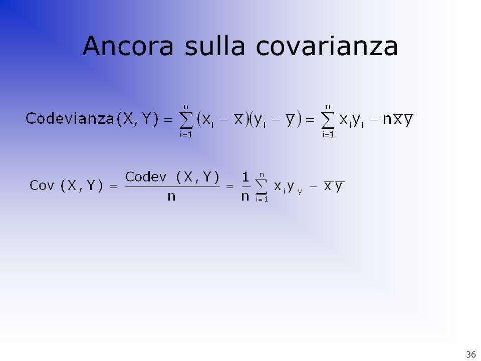 Ancora sulla covarianza 36