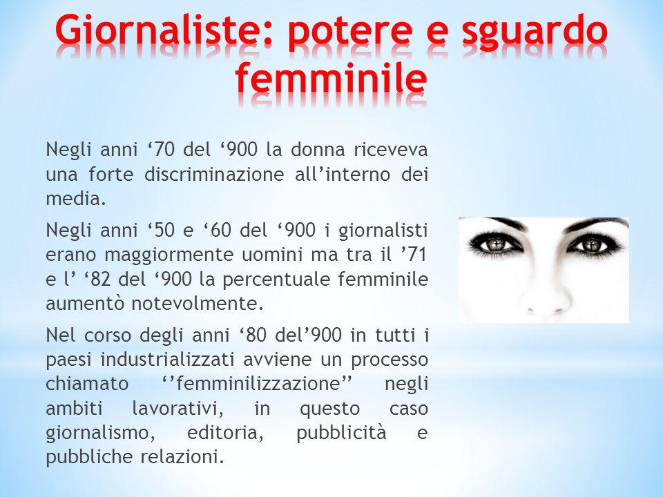 Negli anni '70 del '900 la donna riceveva una forte discriminazione all'interno dei media.