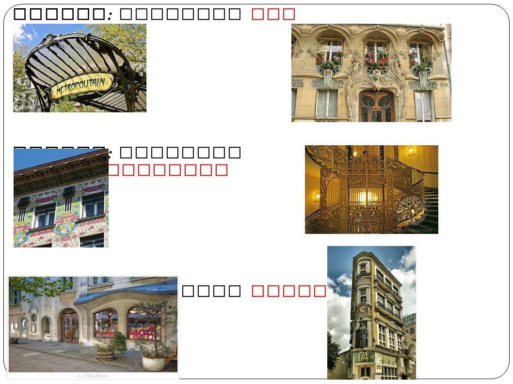 ... o in alcune città come : Praga : chiamato Jugendistil Barcellona : chiamato Modernismo Milano : chiamato Liberty o Stile Floreale Sagrada familia