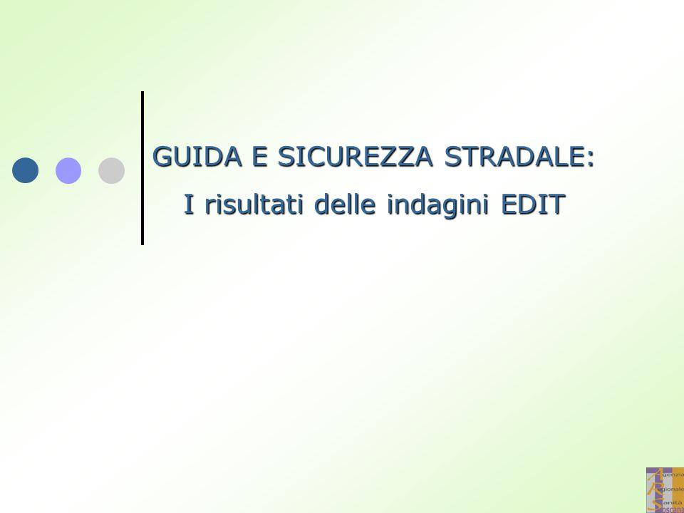 GUIDA E SICUREZZA STRADALE: I risultati delle indagini EDIT