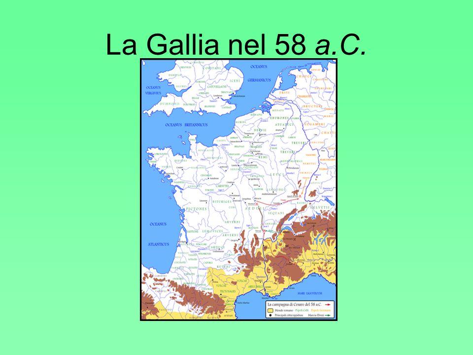 La Gallia nel 58 a.C.
