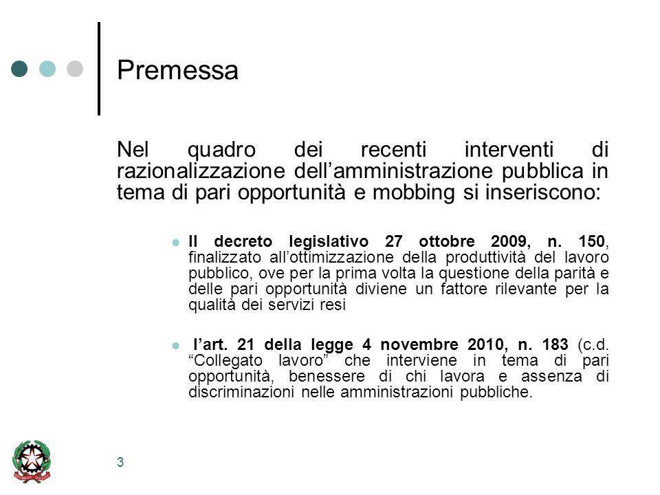 4 Premessa La legge 4 novembre 2010,n.183 (c.d.