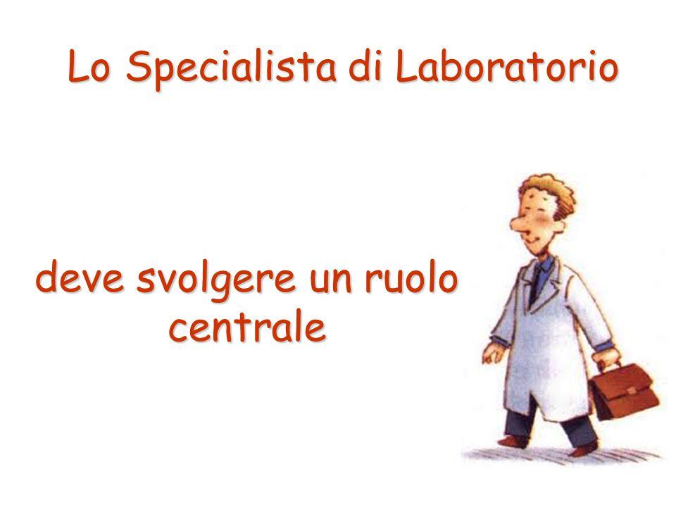 Lo Specialista di Laboratorio deve svolgere un ruolo centrale