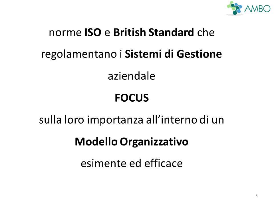 3 norme ISO e British Standard che regolamentano i Sistemi di Gestione aziendale FOCUS sulla loro importanza all'interno di un Modello Organizzativo esimente ed efficace