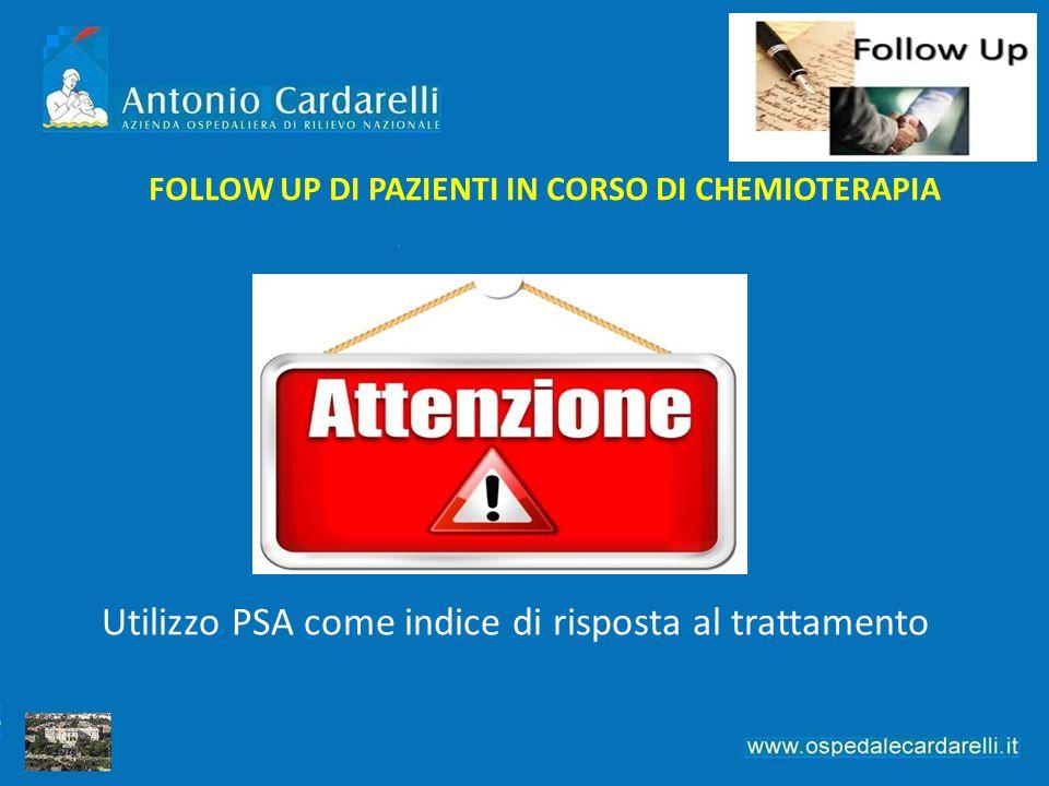 FOLLOW UP DI PAZIENTI IN CORSO DI CHEMIOTERAPIA Utilizzo PSA come indice di risposta al trattamento