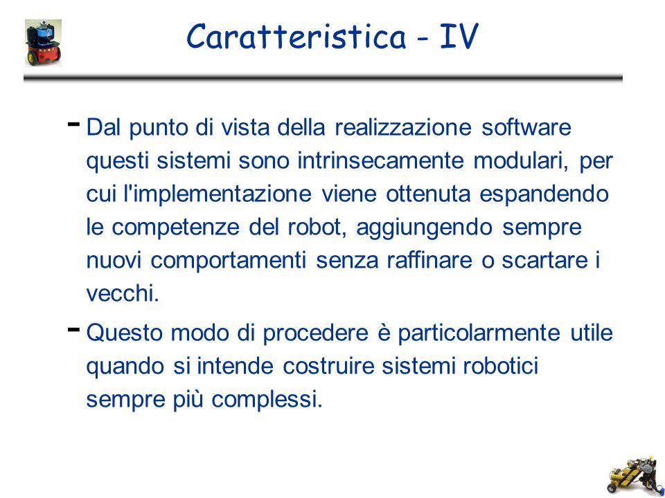 Caratteristica - IV - Dal punto di vista della realizzazione software questi sistemi sono intrinsecamente modulari, per cui l'implementazione viene ot