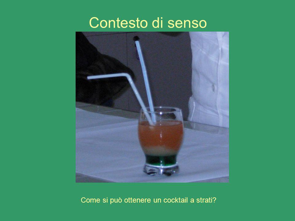 Contesto di senso Come si può ottenere un cocktail a strati?