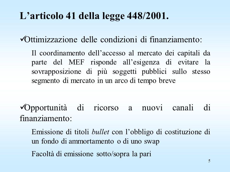 5 L'articolo 41 della legge 448/2001.