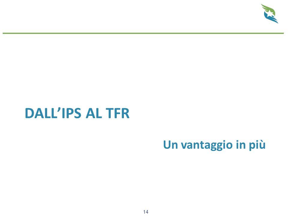 DALL'IPS AL TFR 14 Un vantaggio in più