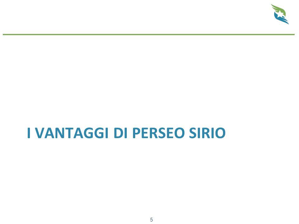 I VANTAGGI DI PERSEO SIRIO 5