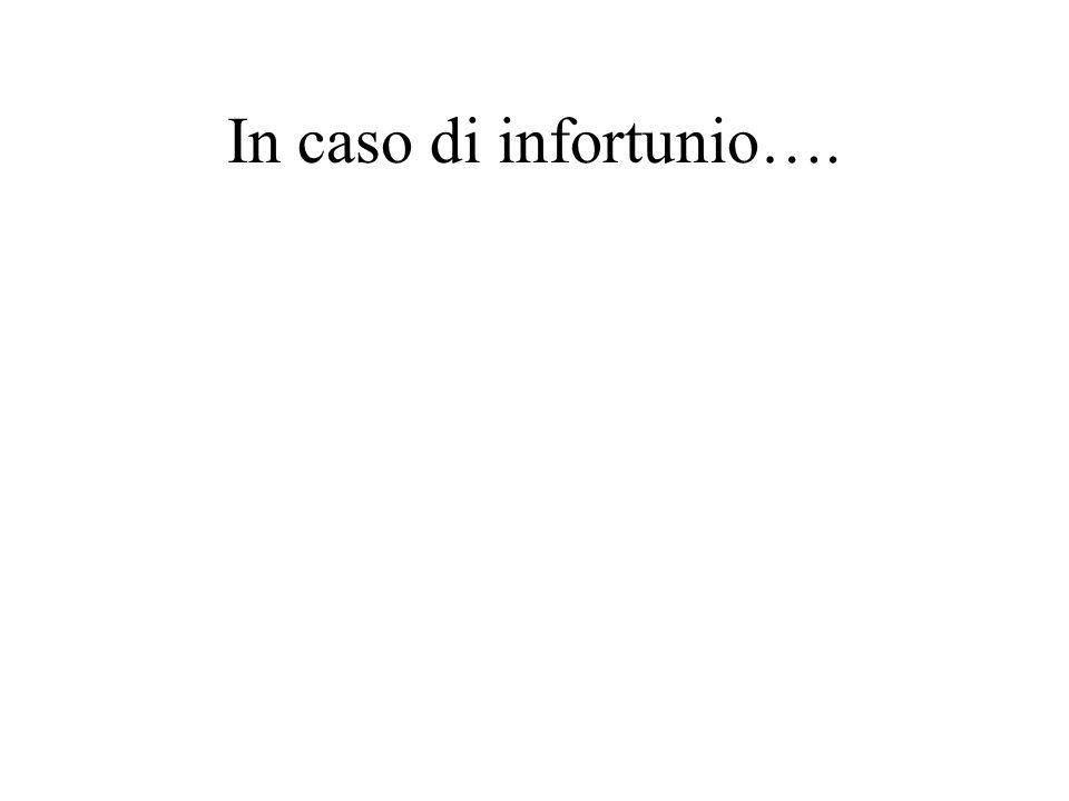 In caso di infortunio….