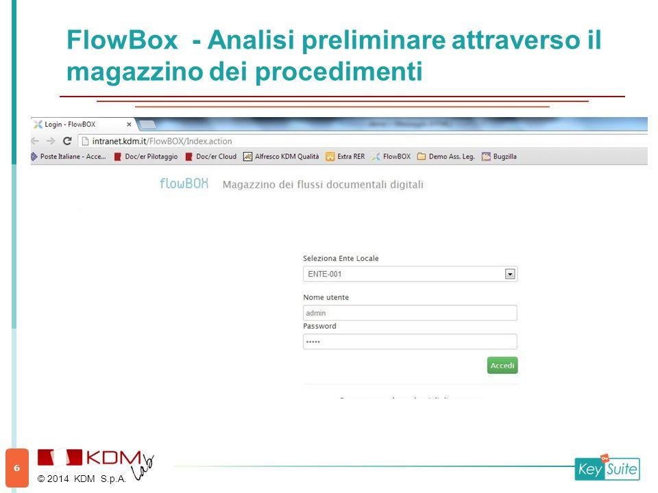 FlowBox - Azioni Documentali © 2014 KDM S.p.A. 17