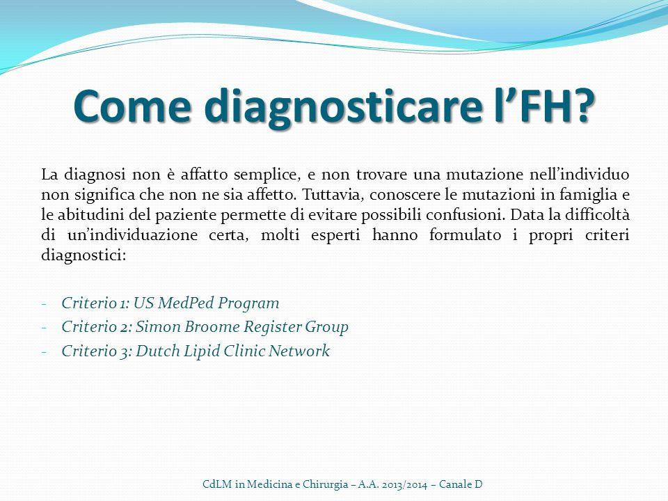 Come diagnosticare l'FH? La diagnosi non è affatto semplice, e non trovare una mutazione nell'individuo non significa che non ne sia affetto. Tuttavia