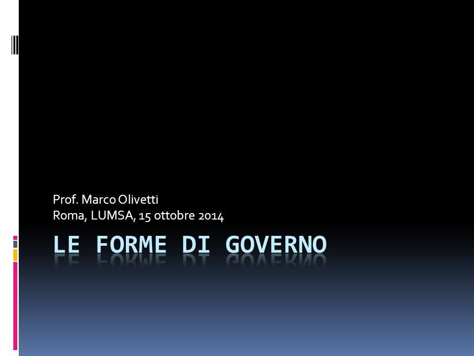Prof. Marco Olivetti Roma, LUMSA, 15 ottobre 2014