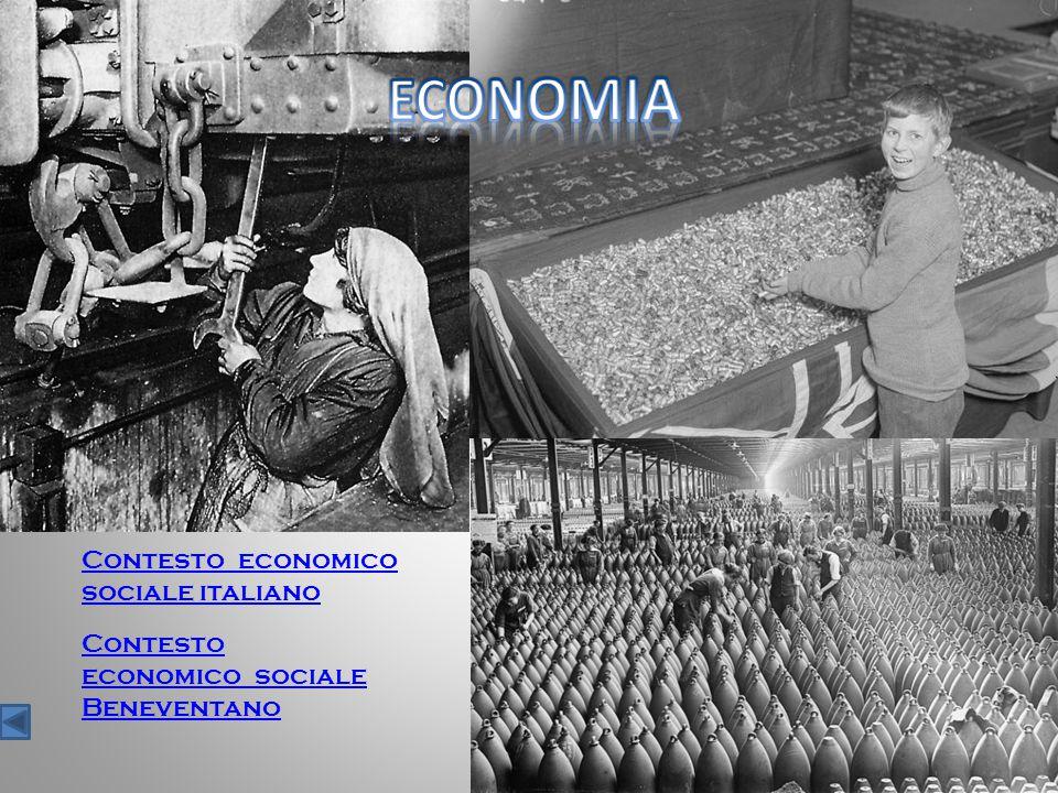 Contesto economico sociale italiano Contesto economico sociale Beneventano