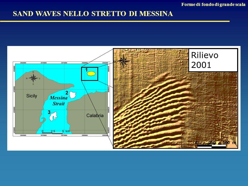 SAND WAVES NELLO STRETTO DI MESSINA Rilievo 2001 Forme di fondo di grande scala