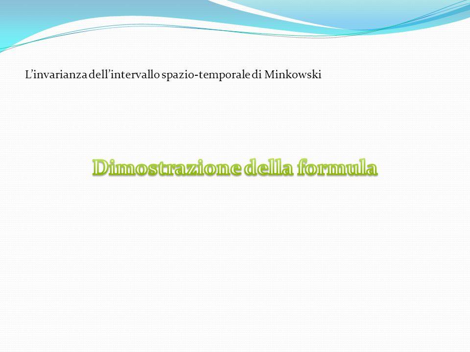 L'invarianza dell'intervallo spazio-temporale di Minkowski