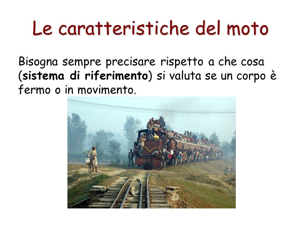 Le caratteristiche del moto La Traiettoria È il percorso seguito da un corpo in movimento, può essere curvilinea o rettilinea.