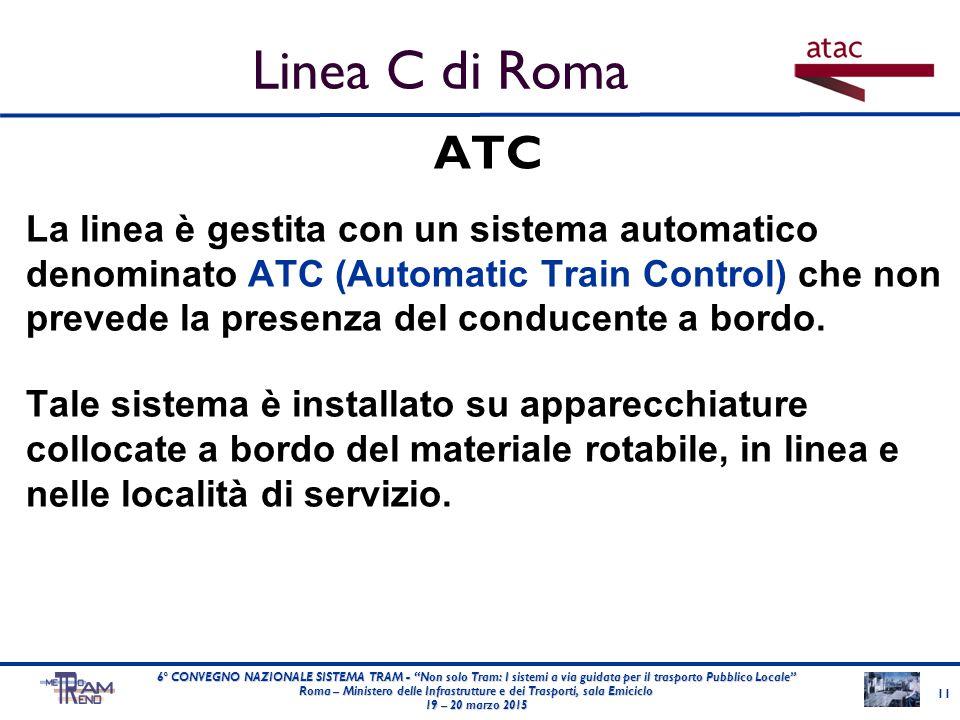 ATC La linea è gestita con un sistema automatico denominato ATC (Automatic Train Control) che non prevede la presenza del conducente a bordo. Tale sis