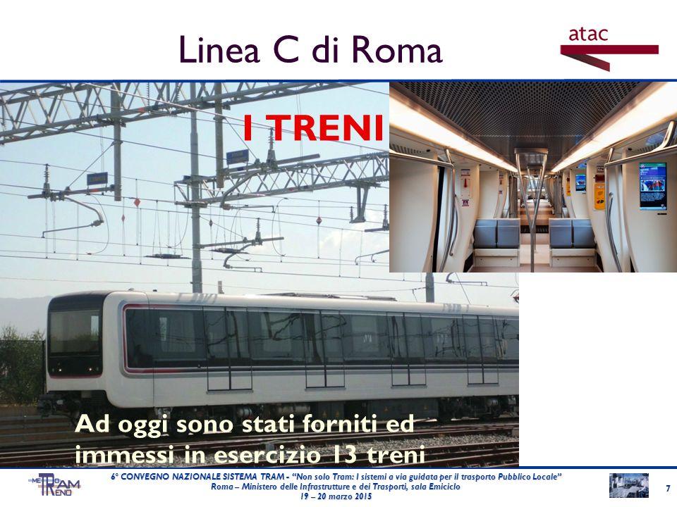 """I TRENI Ad oggi sono stati forniti ed immessi in esercizio 13 treni 7 6° CONVEGNO NAZIONALE SISTEMA TRAM - """"Non solo Tram: I sistemi a via guidata per"""