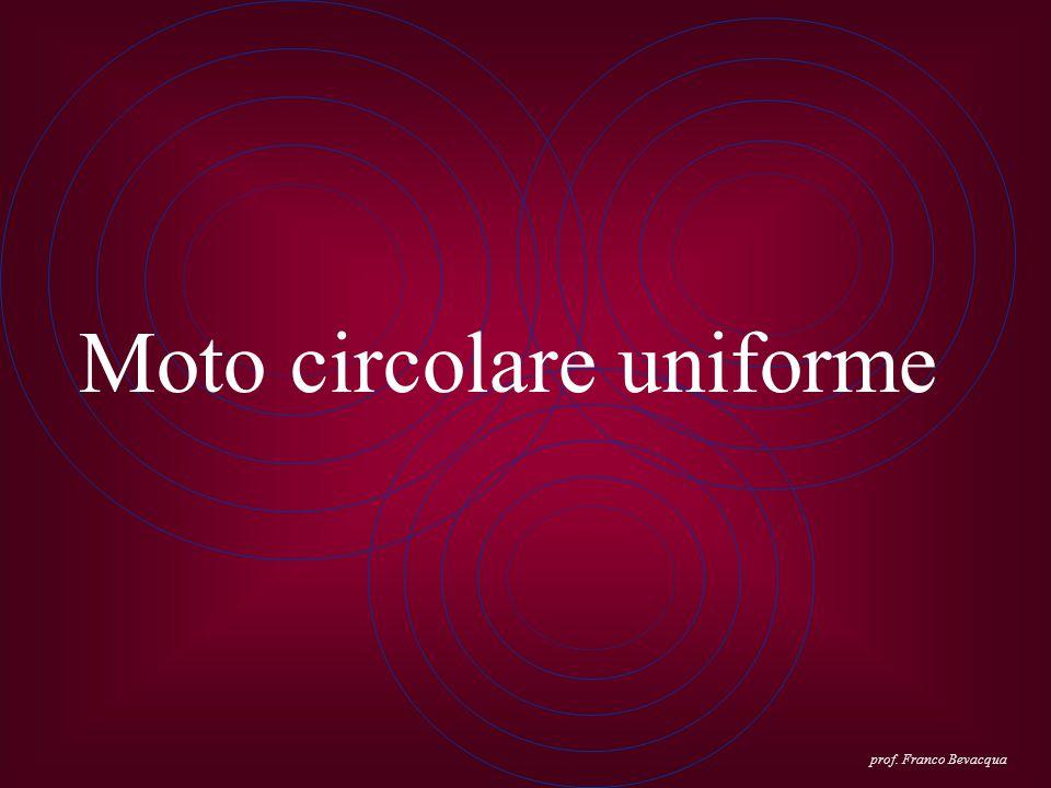 Moto circolare uniforme prof. Franco Bevacqua