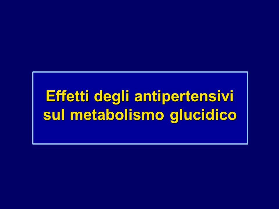 Effetti degli antipertensivi sul metabolismo glucidico