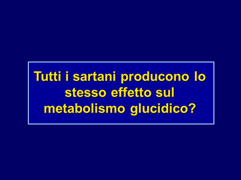 Tutti i sartani producono lo stesso effetto sul metabolismo glucidico?