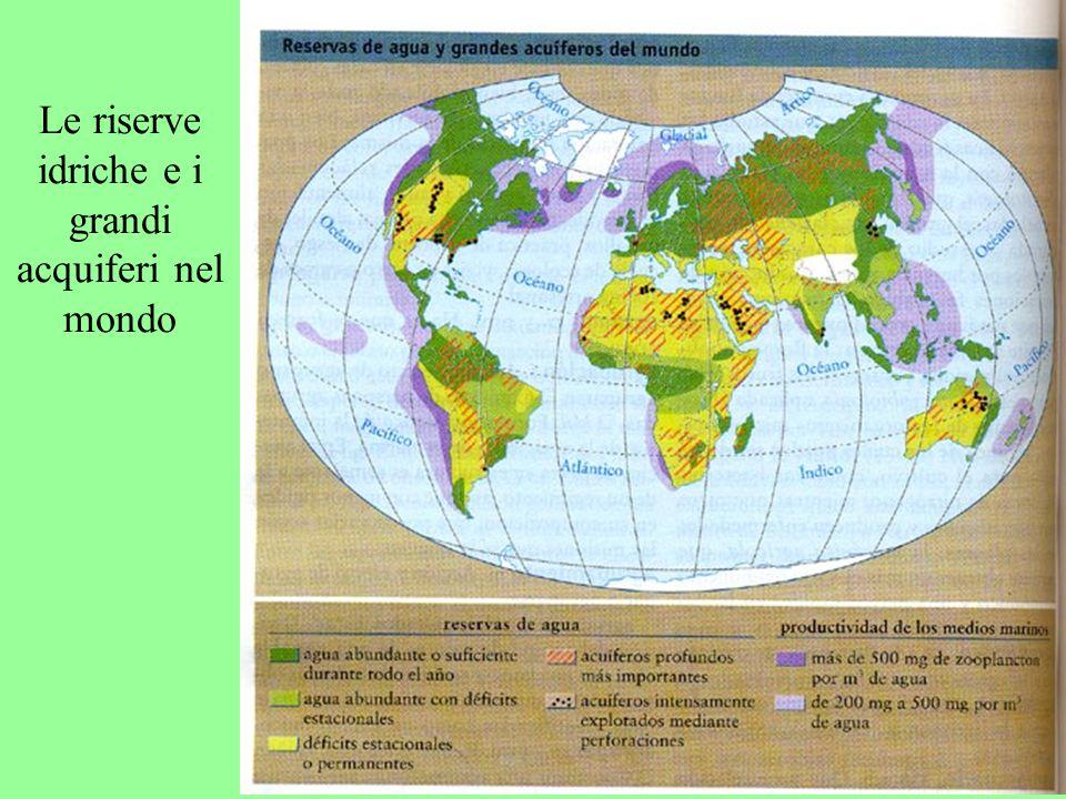 Le riserve idriche e i grandi acquiferi nel mondo
