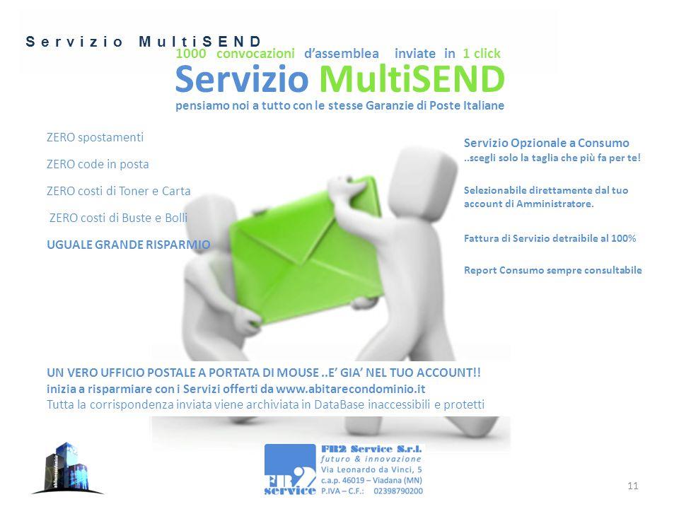 Servizio MultiSEND 11 1000 convocazioni d'assemblea inviate in 1 click pensiamo noi a tutto con le stesse Garanzie di Poste Italiane ZERO spostamenti