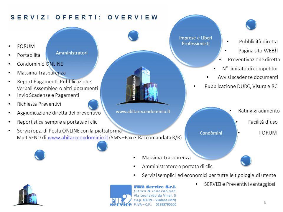 6 www.abitarecondominio.it Amministratori Imprese e Liberi Professionisti Condòmini Massima Trasparenza Report Pagamenti, Pubblicazione Verbali Assemb