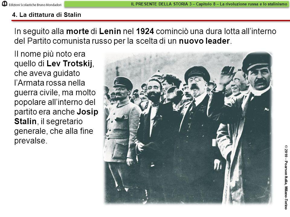 In seguito alla morte di Lenin nel 1924 cominciò una dura lotta all'interno del Partito comunista russo per la scelta di un nuovo leader. 4. La dittat