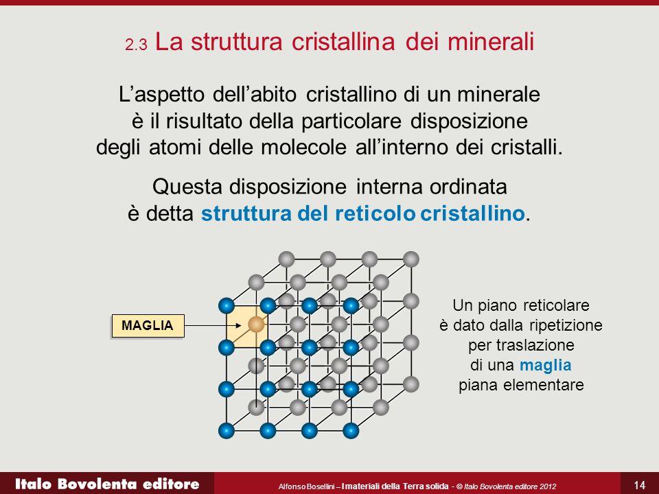 Alfonso Bosellini – I materiali della Terra solida - © Italo Bovolenta editore 2012 14 L'aspetto dell'abito cristallino di un minerale è il risultato