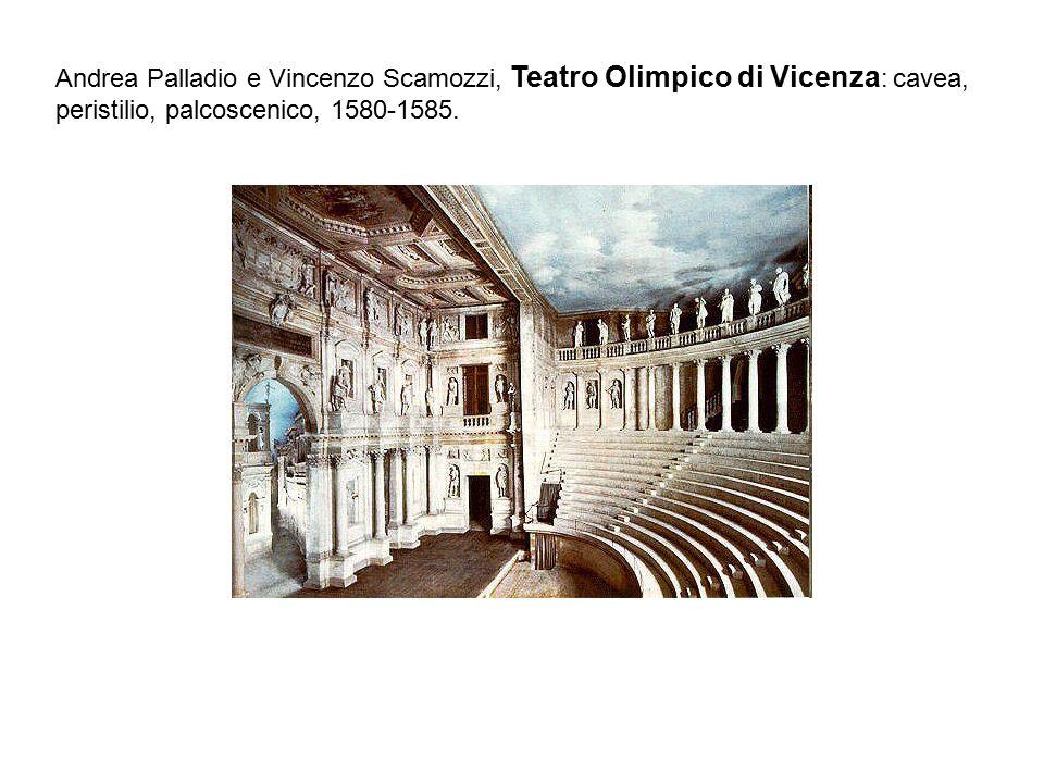 Andrea Palladio e Vincenzo Scamozzi, Teatro Olimpico di Vicenza : cavea, peristilio, palcoscenico, 1580-1585.