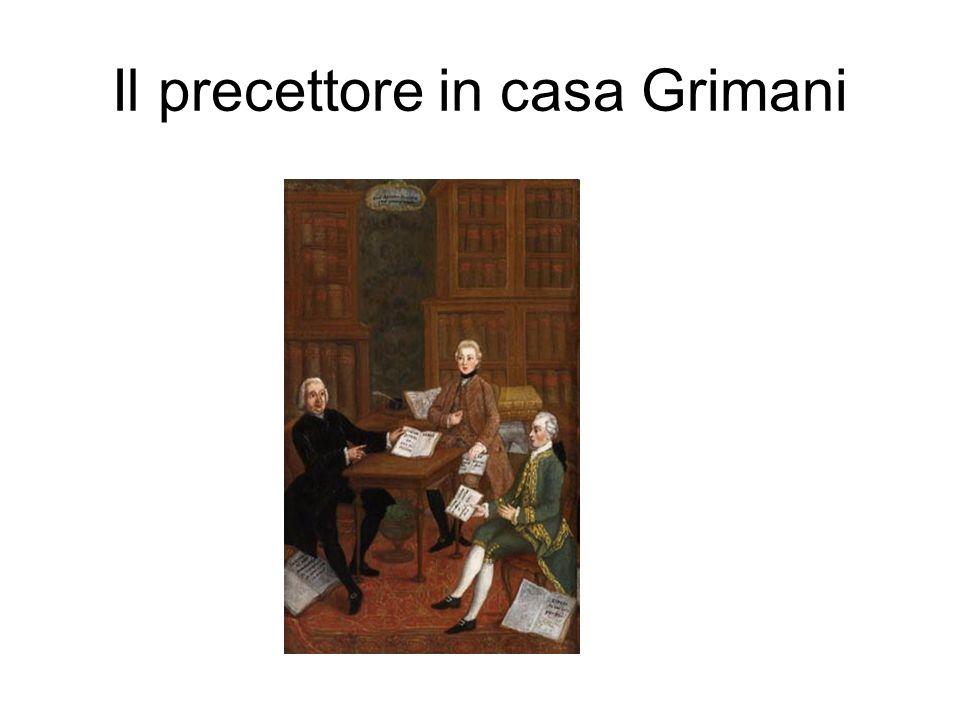 Il precettore in casa Grimani