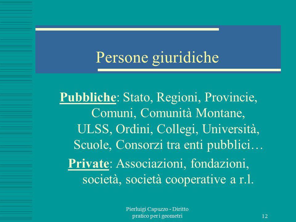 Pierluigi Capuzzo - Diritto pratico per i geometri 11 Sede giuridica della persona Domicilio: sede principale di affari e interessi Residenza: luogo d