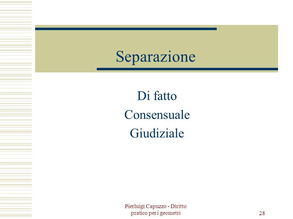 Pierluigi Capuzzo - Diritto pratico per i geometri 27 I gradi di parentela