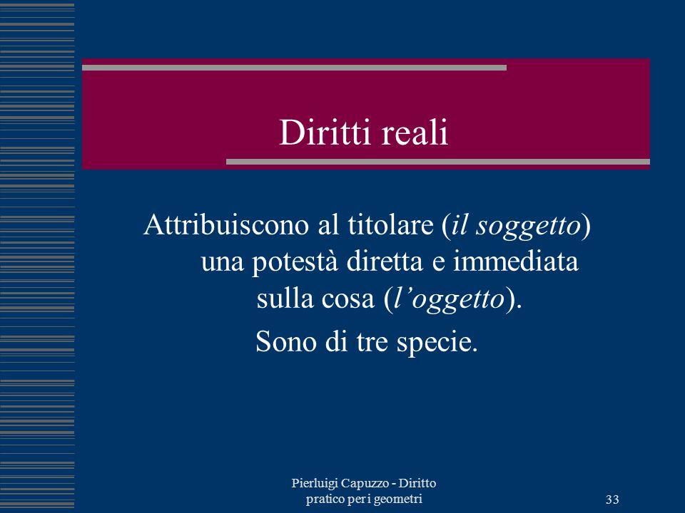 Pierluigi Capuzzo - Diritto pratico per i geometri 32 Il testamento Olografo, cioè scritto di pugno per intero dal testatore Per atto di notaio, cioè pubblico o segreto
