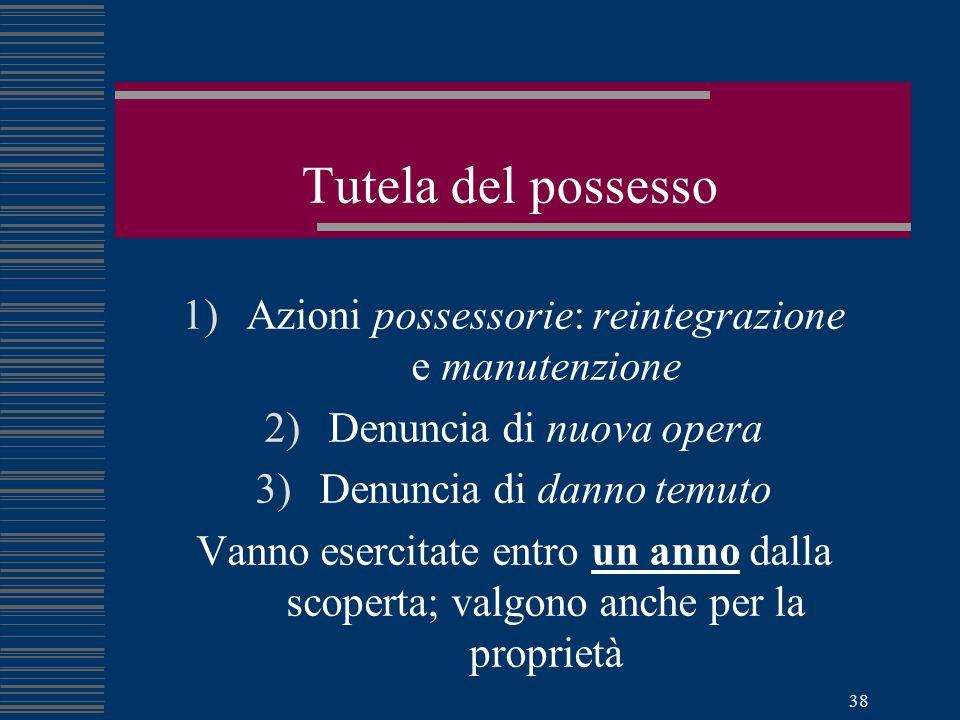 Pierluigi Capuzzo - Diritto pratico per i geometri 37 Effetti del possesso 1)Diritti e obblighi del possessore nella restituzione della cosa 2)Il poss