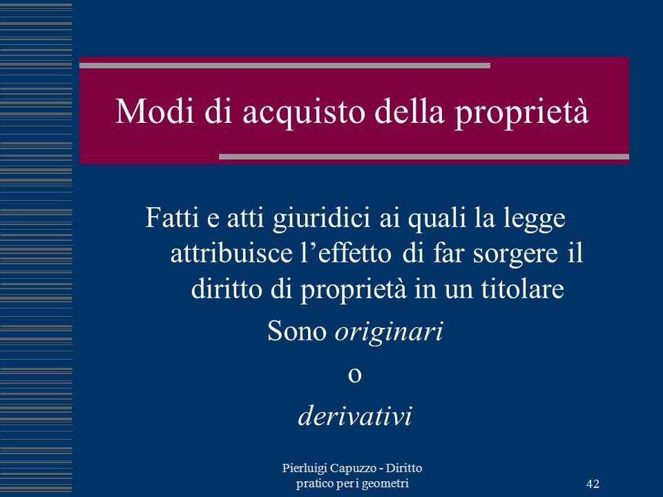 Pierluigi Capuzzo - Diritto pratico per i geometri 41 Limitazioni della proprietà per interesse privato Atti emulativi, immissioni, accesso al fondo,